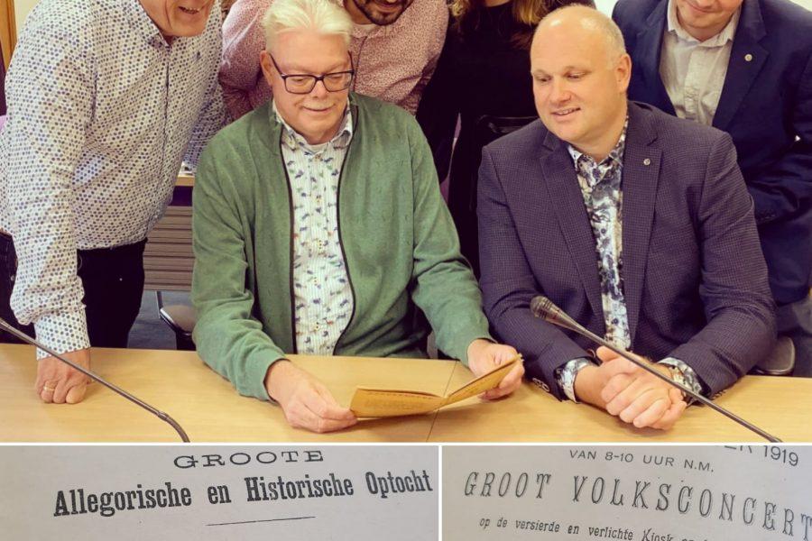 VLP fractie mag een historisch cadeau overhandigen aan nieuwe Burgemeester