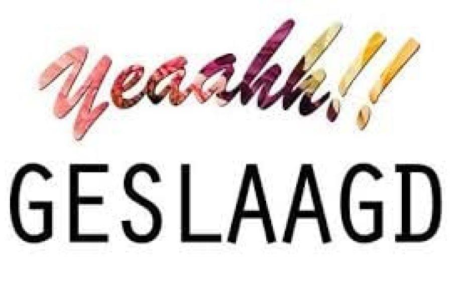 VLP Roosendaal en JONG VLP Roosendaal feliciteren alle geslaagden met hun behaalde diploma!