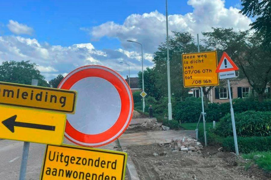 Onze fractie stelde vragen over de flinke vertraging van de werkzaamheden aan de Plantagebaan in Wouw.